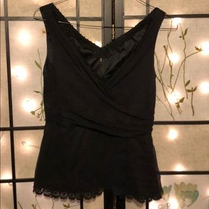 Elie Tahiti sheer and lace tank